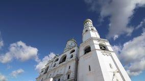 Иван больший колокол против неба kremlin moscow Россия Место всемирного наследия Unesco сток-видео