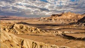 Известная пустыня Негев в Израиле на заходе солнца Timelapse видеоматериал