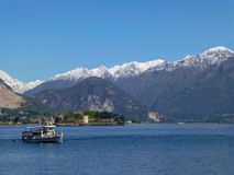 Известное итальянское назначение перемещения, большое lago Maggiore озера стоковое фото rf