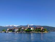 Известное итальянское назначение перемещения, большое lago Maggiore озера стоковое изображение