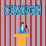 Изменение текста почерка Изменение перехода изменения диверсии регулировки изменения смысла концепции иллюстрация вектора