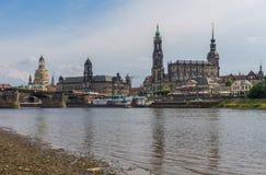 Изумительный городок Дрездена старый стоковое изображение