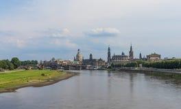 Изумительный городок Дрездена старый стоковое фото rf