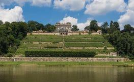 Изумительный городок Дрездена старый стоковое фото
