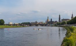 Изумительный городок Дрездена старый стоковые фото