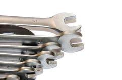 изолированные гаечные ключа белые стоковая фотография rf
