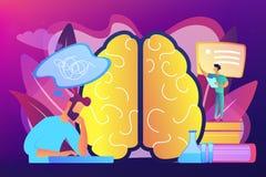Иллюстрация вектора концепции заболеванием Alzheimer иллюстрация вектора