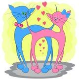 Иллюстрация вектора мультфильма любов кота иллюстрация штока