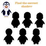 Иллюстрация вектора находки правая тень пингвина иллюстрация штока