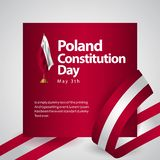 Иллюстрация дизайна шаблона вектора флага Дня Конституции Польши иллюстрация вектора
