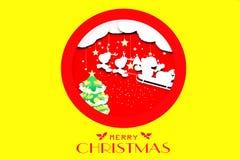 иллюстрация дизайна рождества для плаката, поздравительной открытки на желтой предпосылке бесплатная иллюстрация