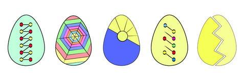 имеющийся цветастый вектор пасхальныхя установленный Питание Собрание яя Пасха плоско вектор иллюстрация вектора
