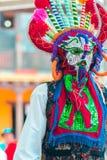 Индигенные танцоры эквадора стоковые фото