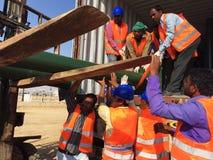 Индийские работники в Саудовской Аравии стоковое изображение rf
