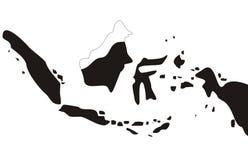 Индонезия составляет карту изолированная белая предпосылка стоковые фотографии rf
