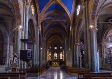 Интерьер базилики St Mary над Minerva в Риме, Италии стоковое фото
