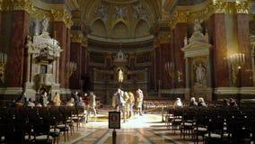 Интерьер базилики Szent Istvan Bazilika St Stephen видеоматериал