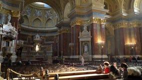 Интерьер базилики Szent Istvan Bazilika St Stephen акции видеоматериалы