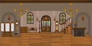 Интерьер живущей комнаты иллюстрация штока