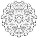Искусство вектора мандалы, сделанные по образцу цветки иллюстрация вектора