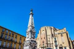 Историческая архитектура в Неаполь, Италии стоковая фотография rf