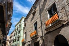 Историческая архитектура в Хероне, Испании стоковое изображение rf