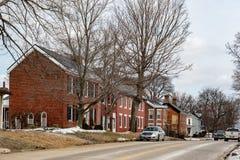 Историческая улица соединения в Mt приятно стоковые фотографии rf
