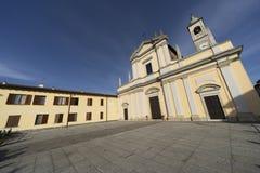 Историческая церковь Casaletto Lodigiano, Италии стоковые фото