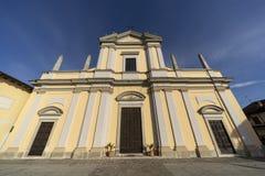 Историческая церковь Casaletto Lodigiano, Италии стоковое фото
