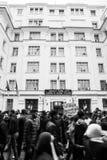 Исторические протесты в Алжире для changement стоковая фотография rf