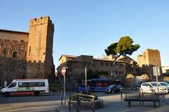 Исторический город Cerveteri в центральной Италии стоковые фото