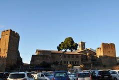 Исторический город Cerveteri в центральной Италии стоковые изображения