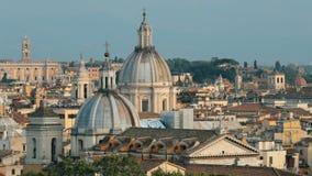 Италия rome Горизонт городского пейзажа с известными ориентирами в старом историческом городе акции видеоматериалы