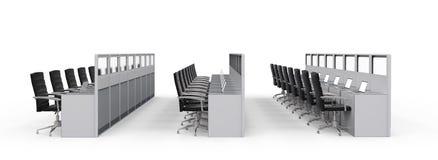 Кабина или место для работы офиса иллюстрация штока