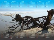 Календарь на 2020 стоковое фото rf