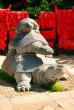Каменная статуя черепах в долине долговечности Парк Nanshan стоковые изображения rf