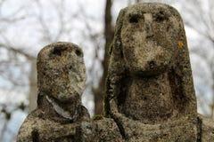 Камень девственницы сделанный скульптором Джордж Oteiza в горе Kukuarri в баскском городке Orio стоковое фото