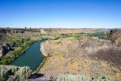 Каньон Рекы Снейк, Twin Falls, Айдахо стоковая фотография