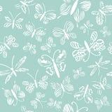 Картина бабочек вектора Абстрактные безшовные предпосылка и текстура бесплатная иллюстрация