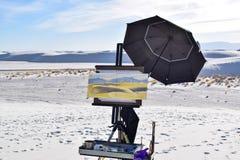 Картина в белых песках дезертирует, Неш-Мексико, США стоковые изображения