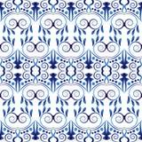 Картина керамической плитки Исламские, индийские, арабские мотивы картина штофа безшовная Предпосылка фарфора этническая богемска иллюстрация вектора