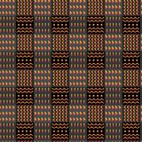 Картина конспекта племенная психоделическая checkered безшовная, этнический стиль, стильная предпосылка Орнаментальное вектора ви стоковые изображения