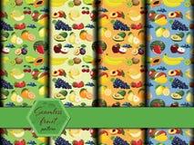 Картина свежих фруктов безшовная иллюстрация штока