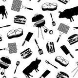 Картина с атрибутами мясника стоковая фотография