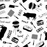 Картина с атрибутами мясника стоковые изображения