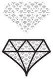 Картина формы диаманта графическая иллюстрация штока