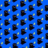 Картина, орнамент динозавра вектор Гад в стиле мультфильма Фантастическая тварь Фантастическая картина для тканей и тканей иллюстрация вектора