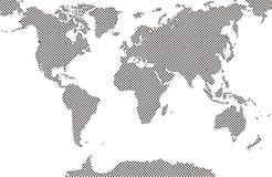 Карты мира заполнили картину коровы точки стоковые фото