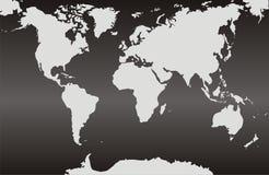 Карты мира с черной предпосылкой градиента стоковые фотографии rf