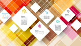 Квадратное infographics на абстрактной предпосылке иллюстрация штока